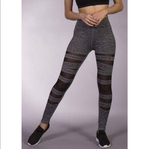 Grey & Black mesh leggings